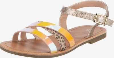 Sprox Sandale in goldgelb / puder / schwarz, Produktansicht