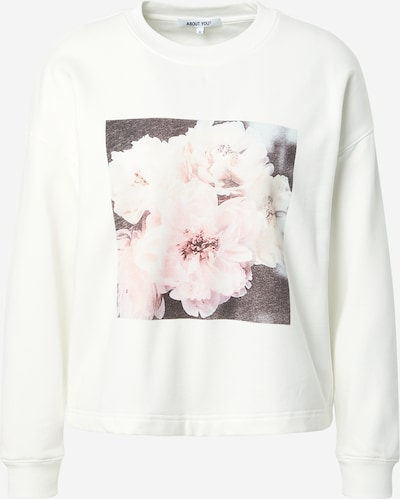 ABOUT YOU Sweatshirt 'Sandy' in braun / mischfarben / rosa / weiß, Produktansicht