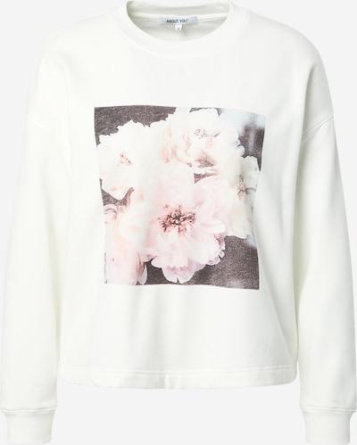 ABOUT YOU Sweatshirt 'Sandy' i brun / blandingsfarvet / lyserød / hvid, Produktvisning