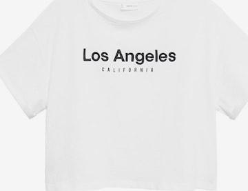 MANGO TEEN T-Shirt 'FLOW' in Weiß