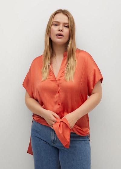 VIOLETA by Mango Bluse in orange, Modelansicht
