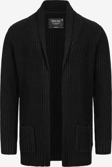 INDICODE JEANS Gebreid vest in de kleur Zwart, Productweergave