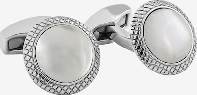 Tateossian London Manchetknopen 'Bullseye' in de kleur Zilver / Wit, Productweergave
