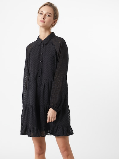 VILA Robe-chemise 'PARTISAN' en noir, Vue avec modèle