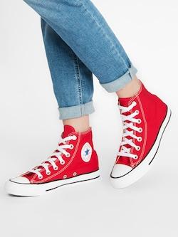 CONVERSE Kotníkové tenisky 'Chuck Taylor All Star Hi' - červená / bílá