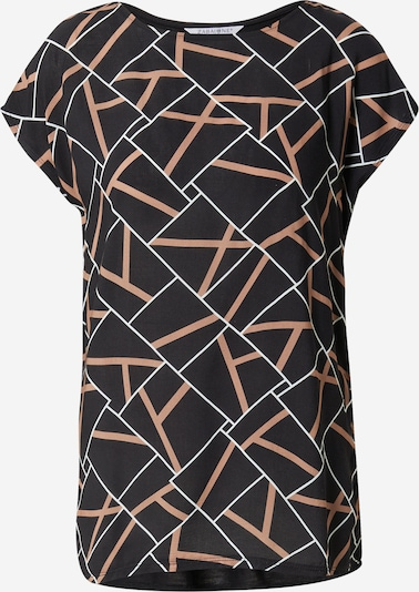 ZABAIONE Μπλουζάκι 'Ria' σε καφέ / μαύρο / λευκό, Άποψη προϊόντος