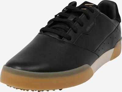 adidas Golf Спортни обувки 'Retro' в кафяво / златистожълто / черно, Преглед на продукта