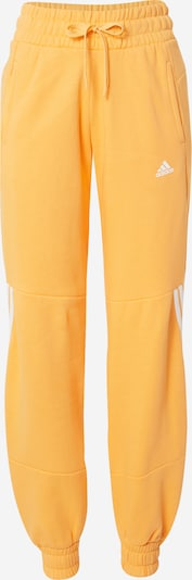 ADIDAS PERFORMANCE Sports trousers in Light orange / White, Item view
