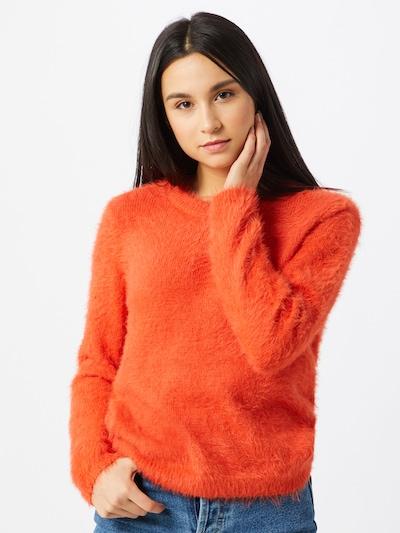 VERO MODA Trui 'Poilu' in de kleur Oranjerood, Modelweergave