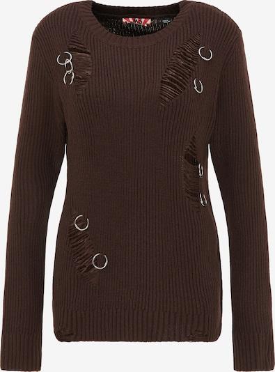 myMo ROCKS Pullover in braun, Produktansicht