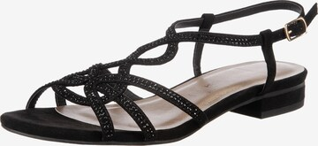 JANE KLAIN Sandale in Schwarz
