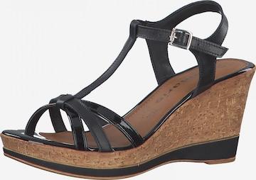 TAMARIS Sandalen met riem in Zwart