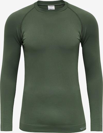 Hummel Funktionsshirt in hellgrau / dunkelgrün, Produktansicht