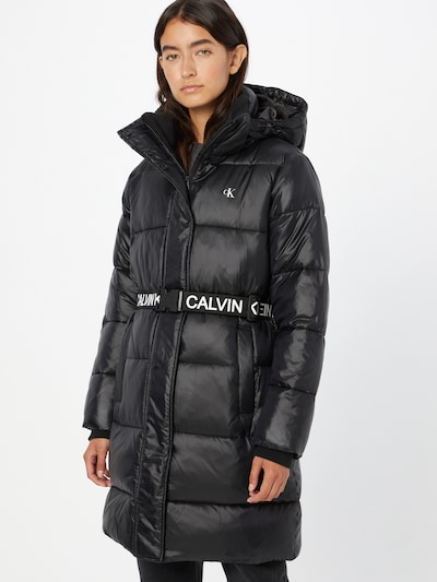 Calvin Klein Jeans Mantel in schwarz / weiß, Modelansicht