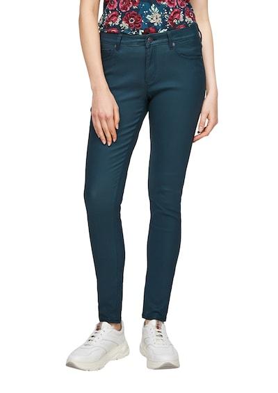 Q/S designed by Super Skinny: Hose mit Beschichtung in blau, Modelansicht