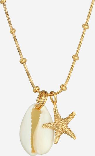 ELLI Halskette Muschel in gold / naturweiß, Produktansicht
