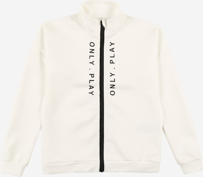 Bluză cu fermoar sport 'SEBINA' Only Play Girls pe negru / alb murdar, Vizualizare produs