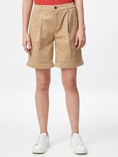 BOSS Casual Pantalon à plis 'Taggie' en beige clair, Vue avec modèle
