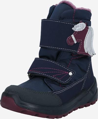 RICOSTA Bottes de neige 'Garei' en bleu foncé / violet pastel / rouge rubis / noir / blanc, Vue avec produit