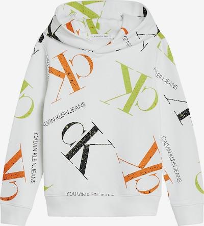 Calvin Klein Jeans Mikina - limetková / oranžová / černá / bílá, Produkt