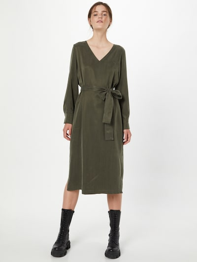 DRYKORN Kleid 'AFFRA' in dunkelgrün, Modelansicht