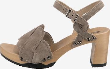 SOFTCLOX Sandale in Braun