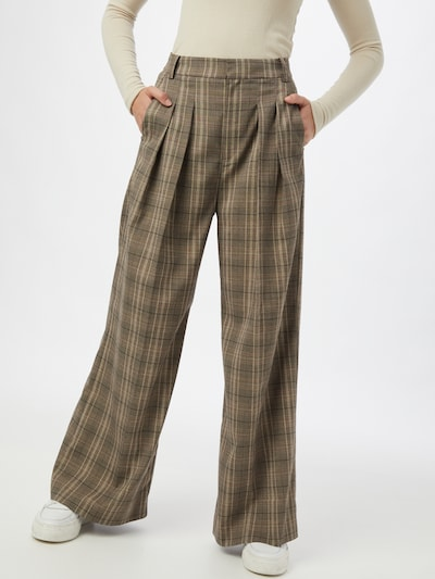 InWear Παντελόνι πλισέ σε καφέ / ανοικτό καφέ / μαύρο, Άποψη μοντέλου