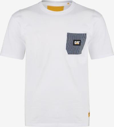CATERPILLAR T-Shirt in blau / gelb / weiß, Produktansicht