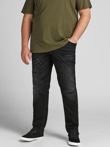 Jack & Jones Plus Jeans 'GLENN' in Schwarz
