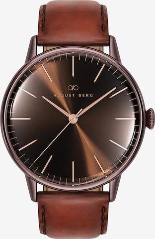 August Berg Analog Watch 'Serenity 40mm' in Brown