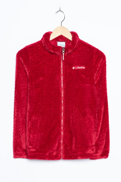 COLUMBIA Fleece in L in rot, Produktansicht