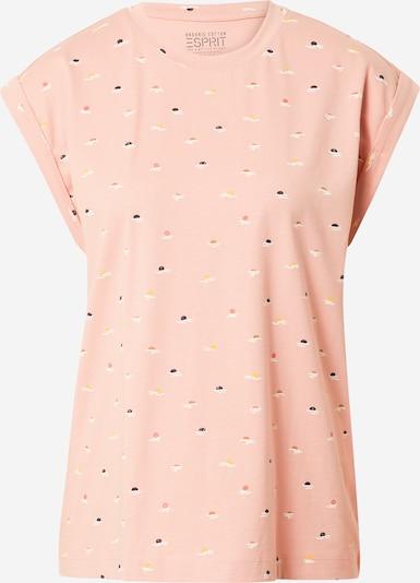 ESPRIT T-shirt en caramel / saumon / rose ancienne / noir / blanc, Vue avec produit