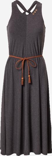 Ragwear Kleid 'MILIE' in schwarzmeliert: Frontalansicht