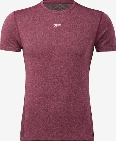 Reebok Sport Shirt in dunkelpink / pinkmeliert, Produktansicht