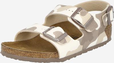 BIRKENSTOCK Buty otwarte 'Milano' w kolorze brązowy / jasnobrązowy / białym, Podgląd produktu