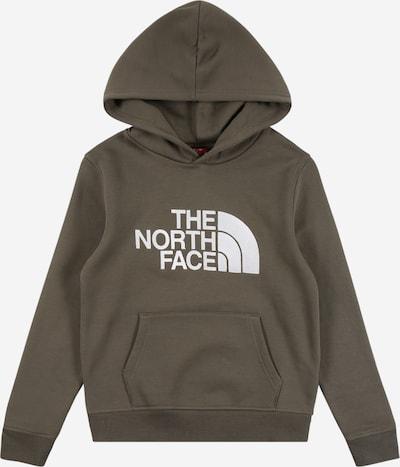 THE NORTH FACE Sportsweatshirt 'DREW PEAK' in khaki / weiß, Produktansicht