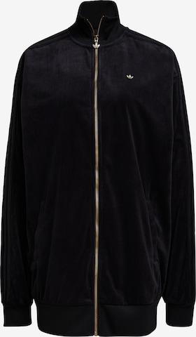 ADIDAS ORIGINALS Zip-Up Hoodie 'Firebird ' in Black