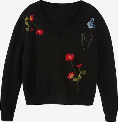 Desigual Sweater 'LUCA' in Blue / Green / Red / Black, Item view