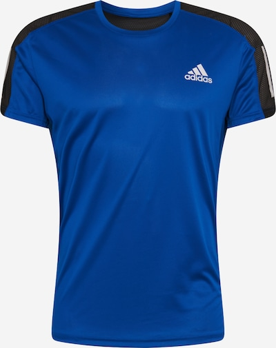 ADIDAS PERFORMANCE T-Shirt fonctionnel 'OWN THE RUN' en bleu roi / noir / blanc, Vue avec produit