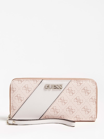 GUESS Portemonnaie 'CAMY ' in pastellpink: Frontalansicht