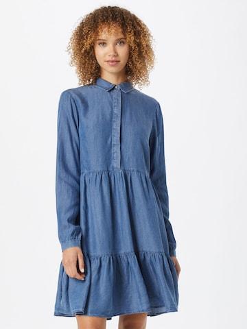 Rochie tip bluză de la VILA pe albastru