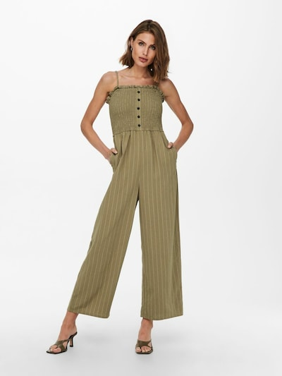 ONLY Jumpsuit in Khaki / White, View model
