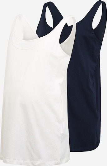 Mamalicious Curve Top 'SIA' in navy / weiß, Produktansicht