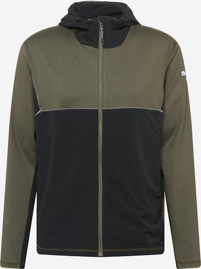 PUMA Vestes d'entraînement en vert foncé / noir, Vue avec produit