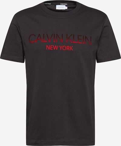 Calvin Klein Shirt in de kleur Rood / Zwart, Productweergave