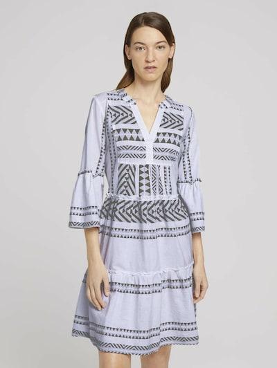 TOM TAILOR Šaty - sivá / biela, Model/-ka