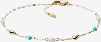 Braccialetto FOSSIL di colore blu / oro / bianco perla, Visualizzazione prodotti