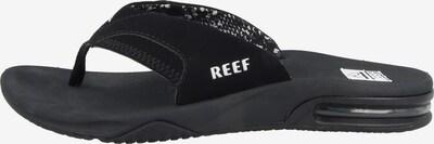 REEF Claquettes / Tongs en noir, Vue avec produit
