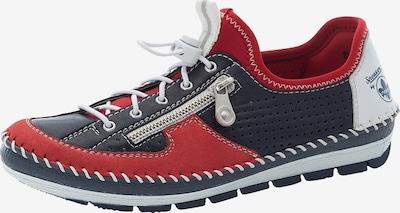 Sneaker low RIEKER pe bleumarin / roşu închis / alb murdar, Vizualizare produs