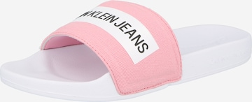 Calvin Klein Jeans Klapki w kolorze biały
